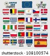 Flags of European Union Countries in Cartoon Style - stock photo