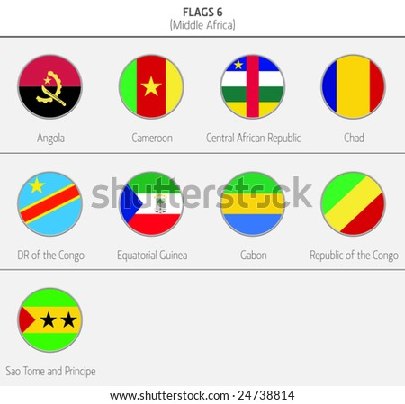 Flags of Middle Africa Countries 6
