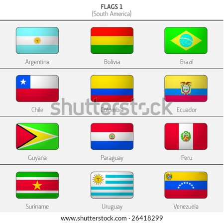 Flags of South America Countries 1