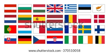 Flags of the European Union countries - stock vector