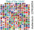 flags of the world against white background, abstract vector art illustration - stock photo