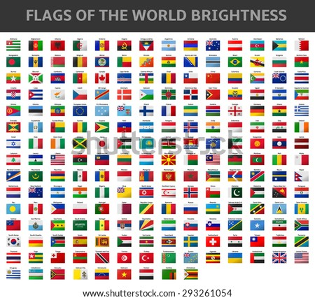 flags of the world brightness - stock vector