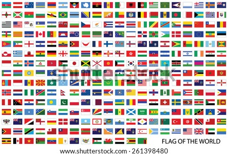 Flags of the world vector  - stock vector
