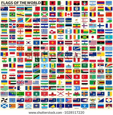 flags world vector set flags sovereign stock vector royalty free
