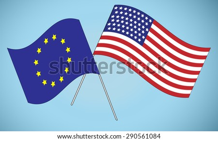 Flags of USA and European Union, Alliance