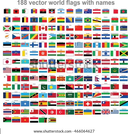 flags world countries stock vector royalty free 466064627