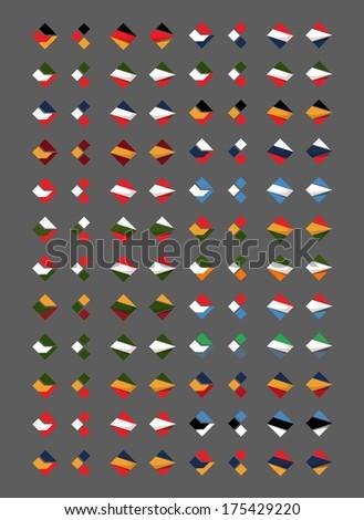 Flags. Vector format - stock vector