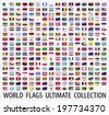 Flags vector of the world  - stock photo