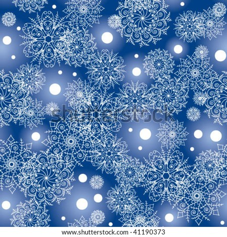 flakes light-blue pattern - stock vector