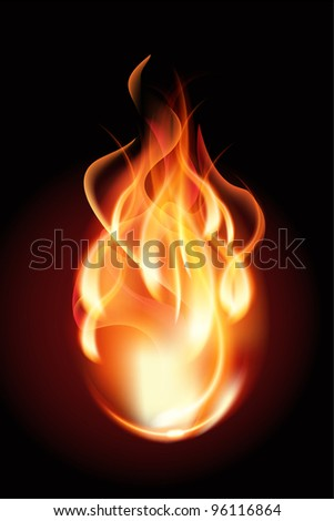 Flame - stock vector