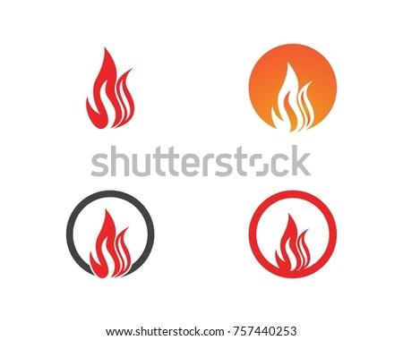 Flame Fire Logo Design Template Stock Vector 757440253 - Shutterstock