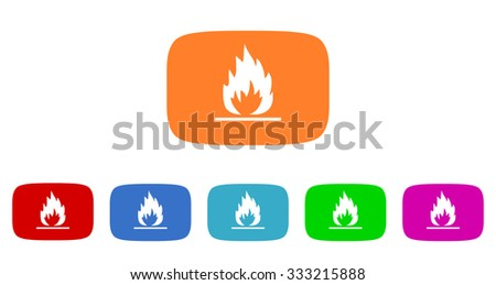 flame flat design modern vector circle icons colorful set for web and mobile app isolated on white background  - stock vector