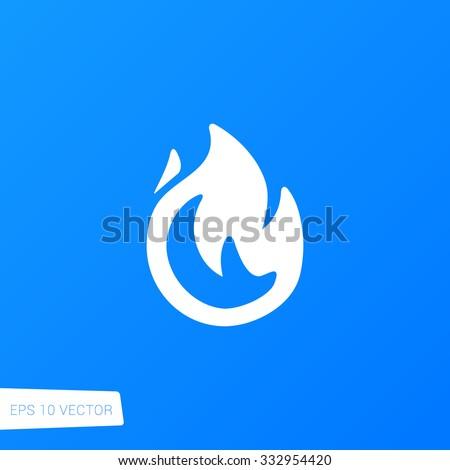 Flame Icon / Flame Icon Path / Flame Icon Image / Flame Icon Graphic / Flame Icon File / Flame Icon Art / Flame Icon UI / Flame Icon JPG / Flame Icon JPEG / Flame Icon EPS / Flame Icon AI - stock vector
