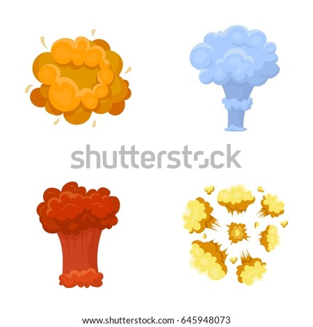Stock Vector Flame Sparks Hydrogen Fragments Atomic Or Gas Explosion Explosions Set Collection Icons In