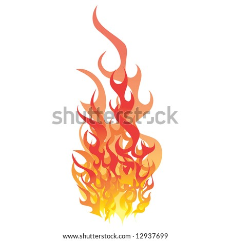 flame vector - stock vector