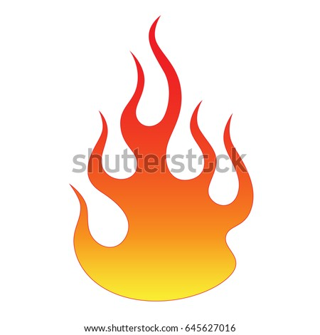 flame vector fire colored tribal flames stock vector 645627016