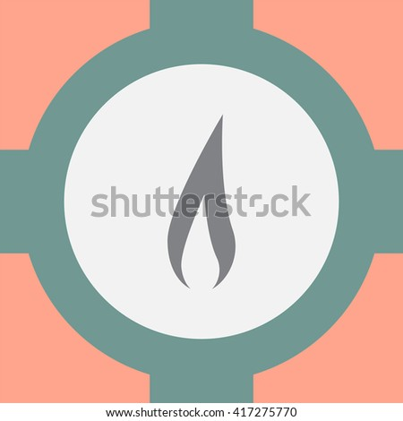 Flame vector icon