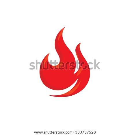 Flame - vector logo concept illustration. Red fire sign. Vector logo template. Design element. - stock vector