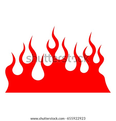 Flame Vector Silhouette Tattoo Illustration Stock Vector 655922923 ...