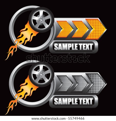 Flaming Tire on Black Vector Background - WeLoveSoLo |Flamming Tire