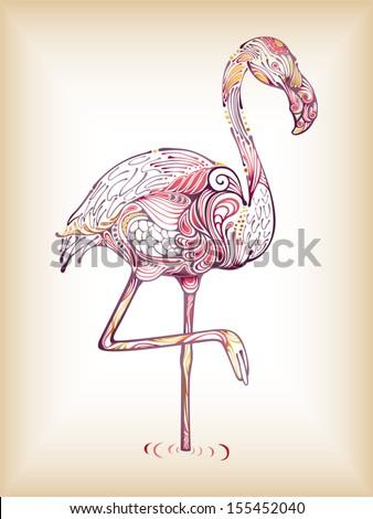 Flamingo - stock vector