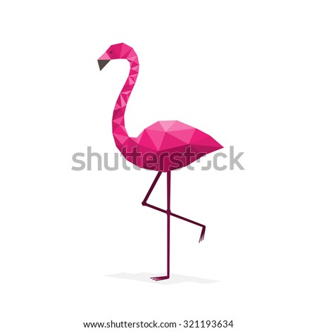 Pink flamingo flat style stock vector 504550180 shutterstock for Flamingo beak template