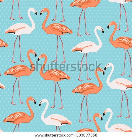 flamingo beak template - exotic tropical border frame template bright stock vector