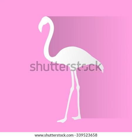 flamingo figure - stock vector