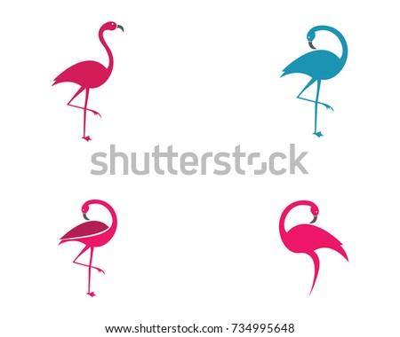 Flamingo logo template stock vector 678392641 shutterstock flamingo logo template pronofoot35fo Images