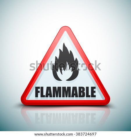 Flammable danger sign