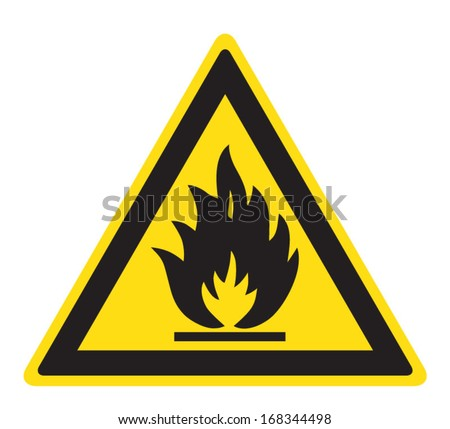 Flammable, inflammable substances  - stock vector