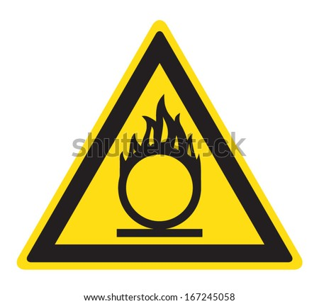 Flammable oxidant sign - stock vector