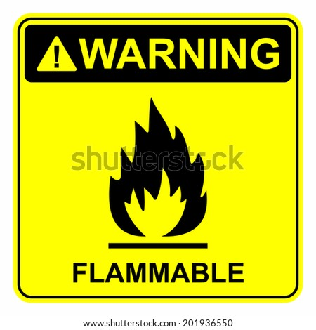 Flammable sign - stock vector