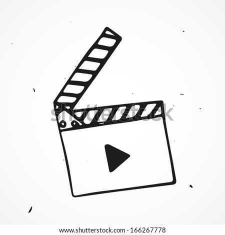 flap movie hand drawn - stock vector