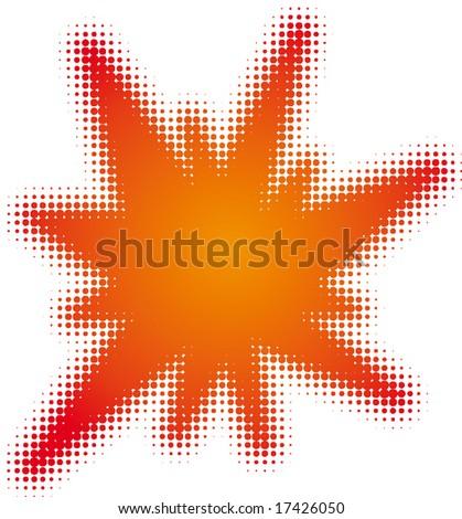 flash (dots design series) - stock vector