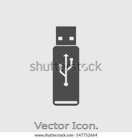 Flash drive Icon isolated sign symbol and flat style for app, web and digital design. Vector illustration.