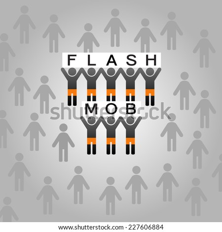 Flash mob vector illustration - stock vector