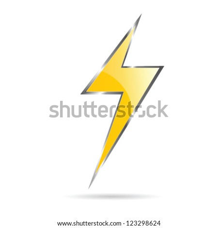 flash sign yellow vector illustration on white background - stock vector