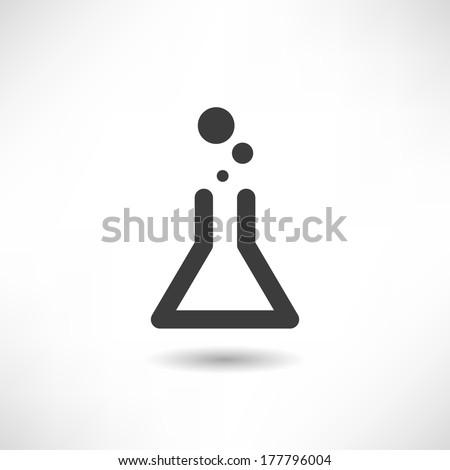 Flask icon - stock vector