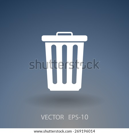 Flat a paper basket icon. vector. - stock vector