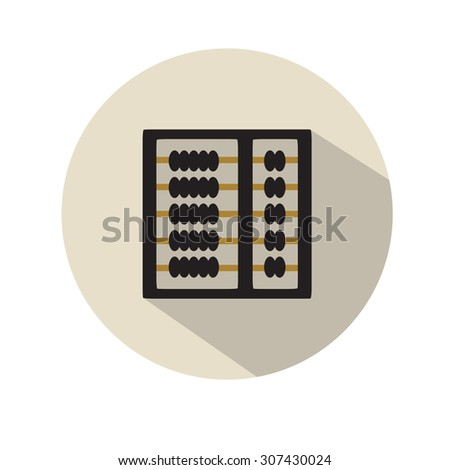 Flat abacus icon - stock vector