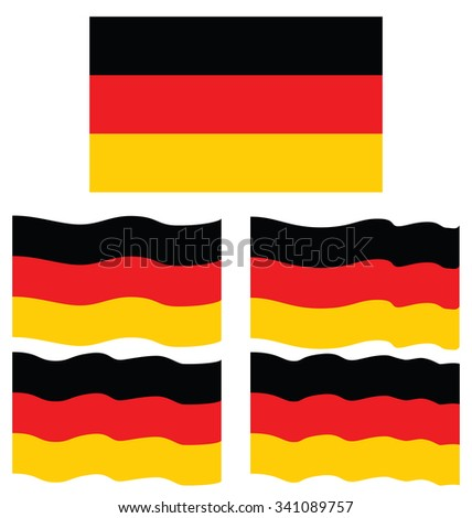 Flat and Waving Flag Of Germany