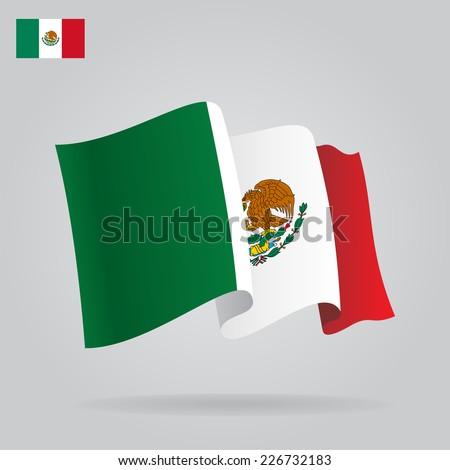 flat waving mexican flag vector illustration stock vector 226732183 rh shutterstock com