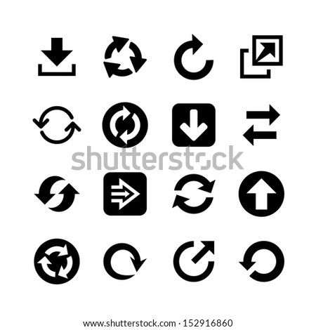 Flat arrow web icons. Icon set - stock vector
