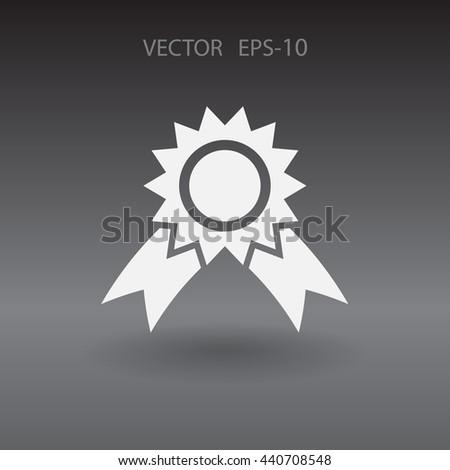 Flat Award icon, vector illustration - stock vector