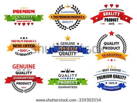 Flat banners, emblems and labels with long shadows for retail and sale design - stock vector
