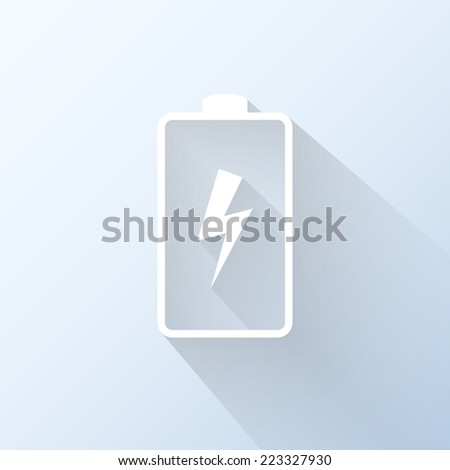 Flat battery icon. Vector illustration - stock vector