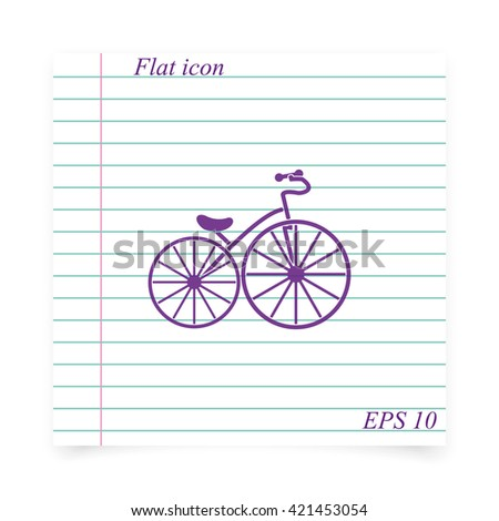 Flat bicycle illustration. - stock vector