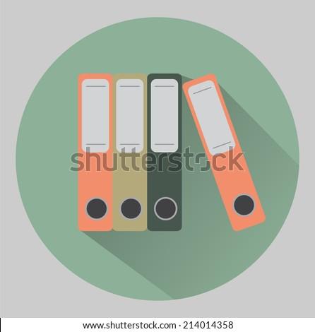 Flat binders icon - stock vector