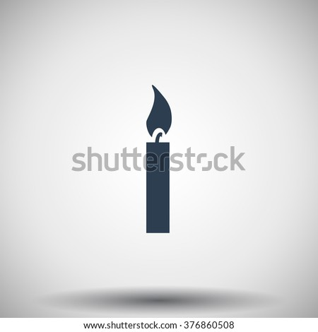 Flat black Candle Light icon